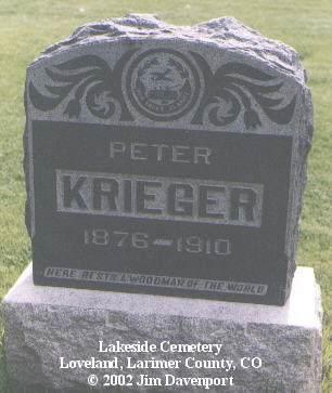 KRIEGER, PETER - Larimer County, Colorado | PETER KRIEGER - Colorado Gravestone Photos
