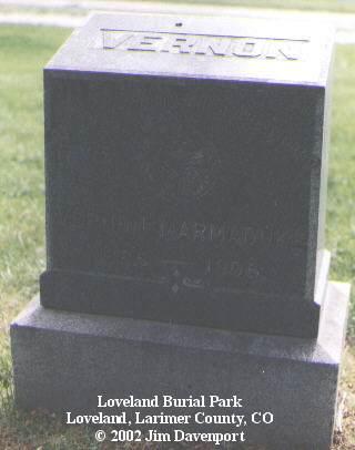MARMADUKE, VERNON - Larimer County, Colorado | VERNON MARMADUKE - Colorado Gravestone Photos