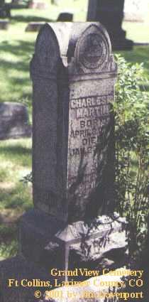 MARTIN, CHARLES L. - Larimer County, Colorado | CHARLES L. MARTIN - Colorado Gravestone Photos