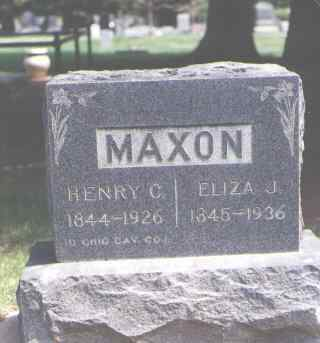 MAXON, ELIZA J. - Larimer County, Colorado | ELIZA J. MAXON - Colorado Gravestone Photos