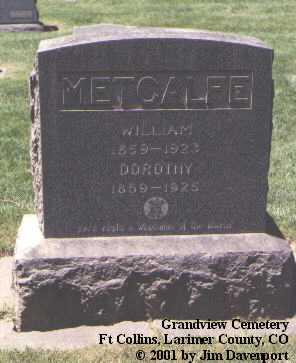METCALFE, DOROTHY - Larimer County, Colorado | DOROTHY METCALFE - Colorado Gravestone Photos