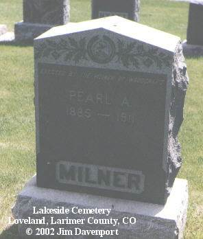 MILNER, PEARL A. - Larimer County, Colorado | PEARL A. MILNER - Colorado Gravestone Photos