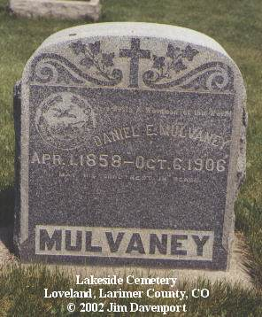 MULVANEY, DANIEL E. - Larimer County, Colorado | DANIEL E. MULVANEY - Colorado Gravestone Photos