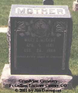 NUGENT, MARY E. - Larimer County, Colorado   MARY E. NUGENT - Colorado Gravestone Photos