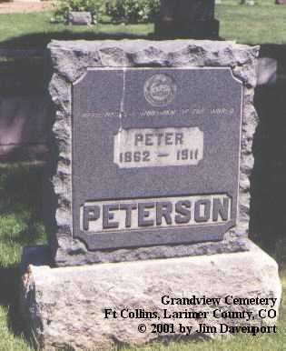 PETERSON, PETER - Larimer County, Colorado | PETER PETERSON - Colorado Gravestone Photos