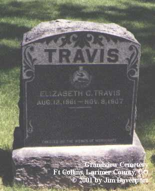 TRAVIS, ELIZABETH C. - Larimer County, Colorado | ELIZABETH C. TRAVIS - Colorado Gravestone Photos
