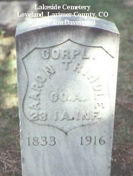 TRINDLE, AARON - Larimer County, Colorado   AARON TRINDLE - Colorado Gravestone Photos