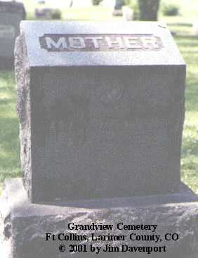 WEYMOUTH, ADA J. - Larimer County, Colorado | ADA J. WEYMOUTH - Colorado Gravestone Photos