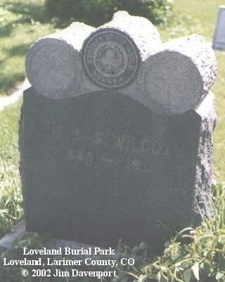 WILCOX, JOHN S. - Larimer County, Colorado | JOHN S. WILCOX - Colorado Gravestone Photos