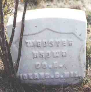 BROWN, WEBSTER - Las Animas County, Colorado | WEBSTER BROWN - Colorado Gravestone Photos