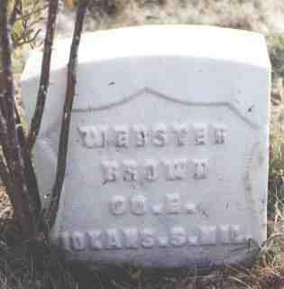 BROWN, WEBSTER - Las Animas County, Colorado | WEBSTER BROWN - Colorado Gravestone Photos