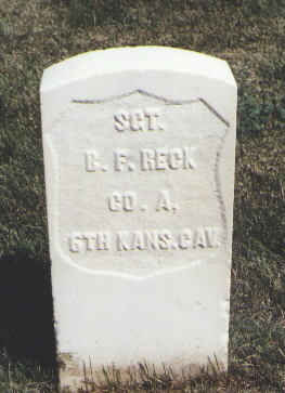 RECK, B. F. - Las Animas County, Colorado | B. F. RECK - Colorado Gravestone Photos