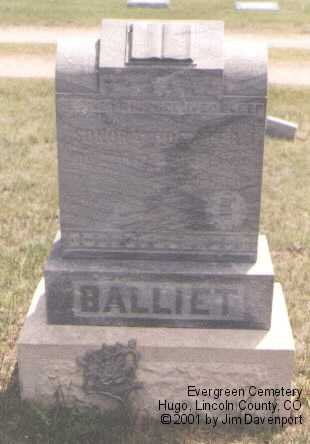 BALLIET, SONORA - Lincoln County, Colorado | SONORA BALLIET - Colorado Gravestone Photos