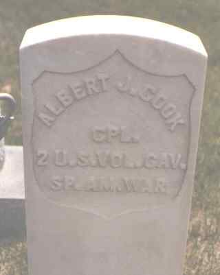 COOK, ALBERT J. - Lincoln County, Colorado | ALBERT J. COOK - Colorado Gravestone Photos