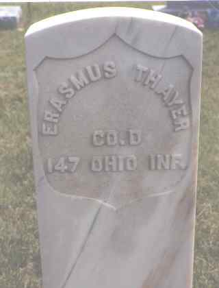 THAYER, ERASMUS - Lincoln County, Colorado | ERASMUS THAYER - Colorado Gravestone Photos