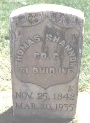SHANNON, THOMAS - Logan County, Colorado | THOMAS SHANNON - Colorado Gravestone Photos