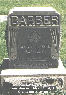 BARBER, EMMA L. - Mesa County, Colorado | EMMA L. BARBER - Colorado Gravestone Photos