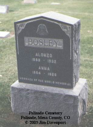 BOSLEY, ALONZO - Mesa County, Colorado | ALONZO BOSLEY - Colorado Gravestone Photos