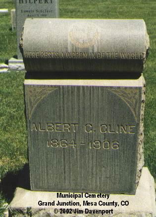 CLINE, ALBERT G. - Mesa County, Colorado | ALBERT G. CLINE - Colorado Gravestone Photos