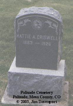 CRISWELL, HATTIE A. - Mesa County, Colorado | HATTIE A. CRISWELL - Colorado Gravestone Photos
