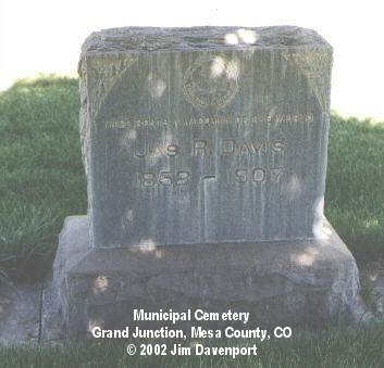 DAVIS, JAS. R. - Mesa County, Colorado | JAS. R. DAVIS - Colorado Gravestone Photos