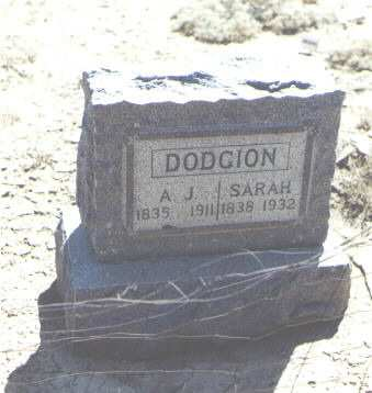 DODGION, A. J. - Mesa County, Colorado | A. J. DODGION - Colorado Gravestone Photos