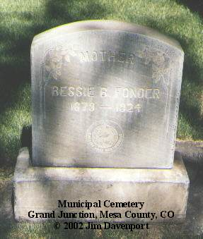 FONDER, BESSIE B. - Mesa County, Colorado | BESSIE B. FONDER - Colorado Gravestone Photos