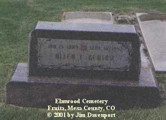 GENTRY, ALLEN F. - Mesa County, Colorado | ALLEN F. GENTRY - Colorado Gravestone Photos