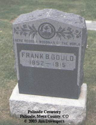 GOULD, FRANK B. - Mesa County, Colorado | FRANK B. GOULD - Colorado Gravestone Photos