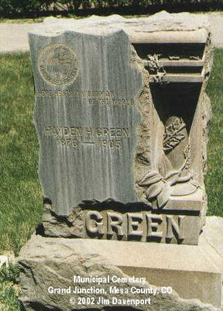 GREEN, HAYDEN H. - Mesa County, Colorado | HAYDEN H. GREEN - Colorado Gravestone Photos