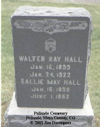 HALL, WALTER RAY - Mesa County, Colorado | WALTER RAY HALL - Colorado Gravestone Photos