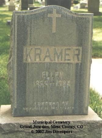 KRAMER, ELLEN - Mesa County, Colorado | ELLEN KRAMER - Colorado Gravestone Photos