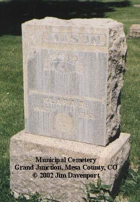 MASON, CLARA A. - Mesa County, Colorado | CLARA A. MASON - Colorado Gravestone Photos