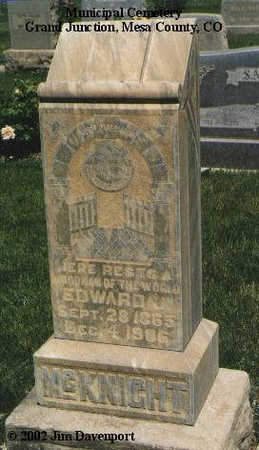 MCKNIGHT, EDWARD J. - Mesa County, Colorado | EDWARD J. MCKNIGHT - Colorado Gravestone Photos