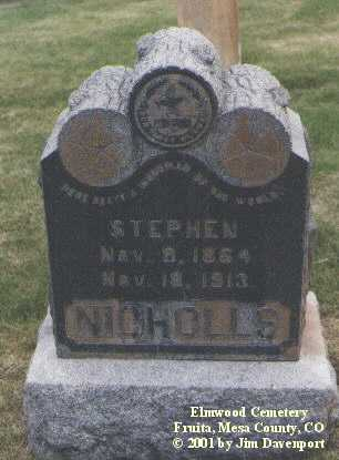 NICHOLLS, STEPHEN - Mesa County, Colorado | STEPHEN NICHOLLS - Colorado Gravestone Photos