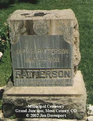 PATTERSON, ALEX H. - Mesa County, Colorado | ALEX H. PATTERSON - Colorado Gravestone Photos