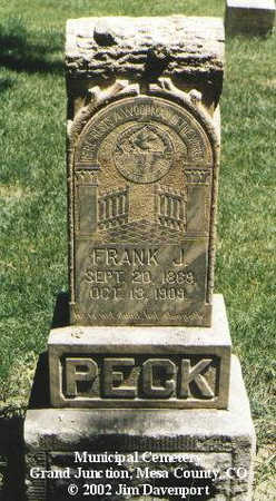 PECK, FRANK J. - Mesa County, Colorado | FRANK J. PECK - Colorado Gravestone Photos