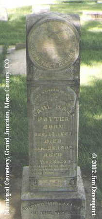 POTTER, CARL HALL - Mesa County, Colorado | CARL HALL POTTER - Colorado Gravestone Photos
