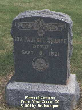 PAULSEL SHARPE, IDA - Mesa County, Colorado | IDA PAULSEL SHARPE - Colorado Gravestone Photos