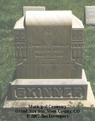 SKINNER, EDWARD - Mesa County, Colorado | EDWARD SKINNER - Colorado Gravestone Photos