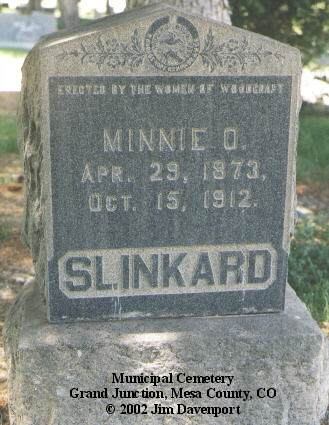 SLINKARD, MINNIE O. - Mesa County, Colorado | MINNIE O. SLINKARD - Colorado Gravestone Photos