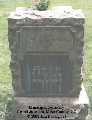 SLOCOMB, EDWIN M. - Mesa County, Colorado | EDWIN M. SLOCOMB - Colorado Gravestone Photos