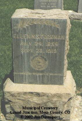 STOCKMAN, ELLEN M. - Mesa County, Colorado | ELLEN M. STOCKMAN - Colorado Gravestone Photos