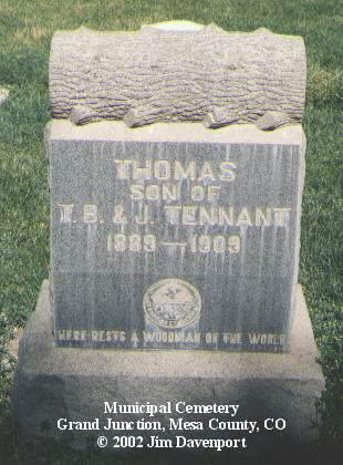 TENNANT, THOMAS - Mesa County, Colorado | THOMAS TENNANT - Colorado Gravestone Photos