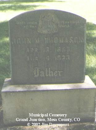 THOMASON, JOHN M. - Mesa County, Colorado | JOHN M. THOMASON - Colorado Gravestone Photos