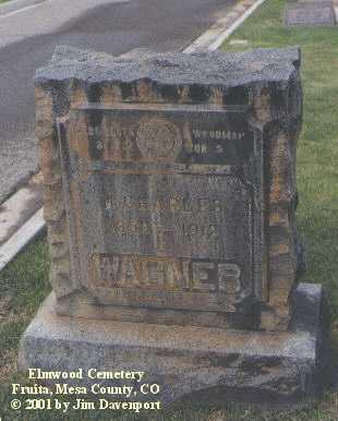 WAGNER, H. CHARLES - Mesa County, Colorado | H. CHARLES WAGNER - Colorado Gravestone Photos