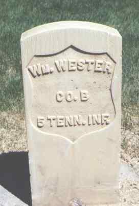 WESTER, WM. - Mesa County, Colorado | WM. WESTER - Colorado Gravestone Photos