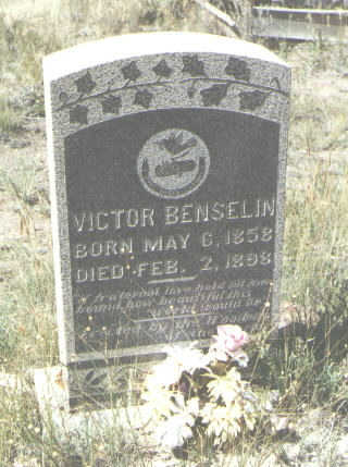 BENSELIN, VICTOR - Mineral County, Colorado | VICTOR BENSELIN - Colorado Gravestone Photos