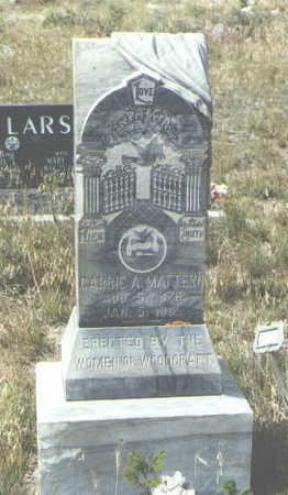 MATTERN, CARRIE A. - Mineral County, Colorado | CARRIE A. MATTERN - Colorado Gravestone Photos
