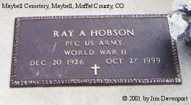 HOBSON, RAY A. - Moffat County, Colorado | RAY A. HOBSON - Colorado Gravestone Photos